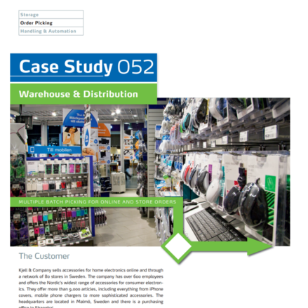 Case Study - E-Commerce Retail Electronics - Order Picking